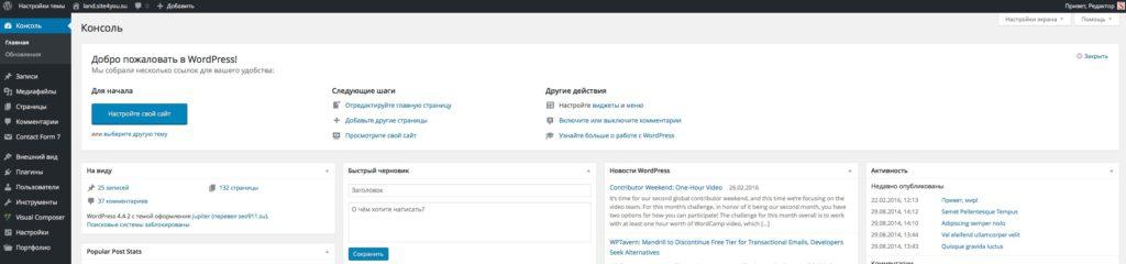 Разработка и ведение сайтов
