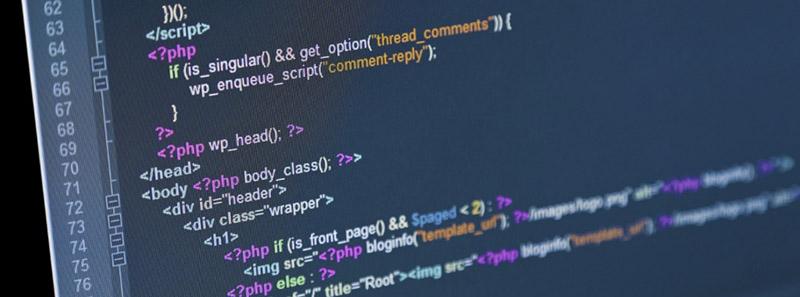 Код сайта в панели разработки