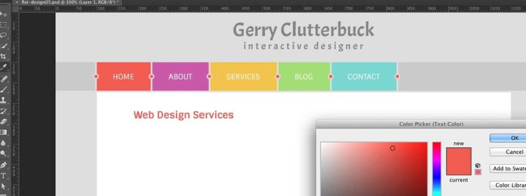 Разработка структуры и дизайна сайта
