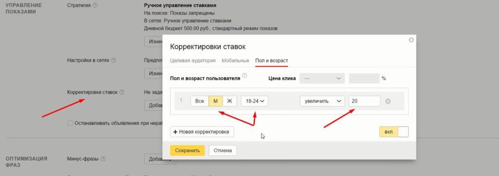 Настройка Яндекс.Директ в РСЯ
